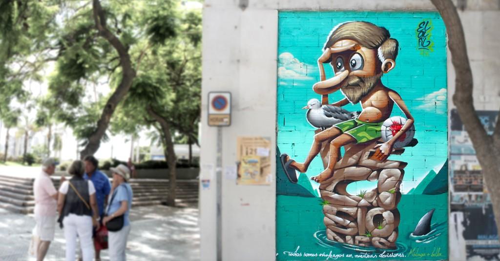 naufrago-elalfil-malaga-equitativa-plaza-de-la-marina