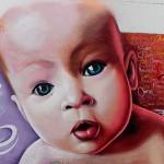 cara de bebe primer plano grafiti